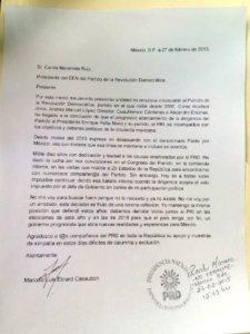Carta de Ebrard compartida vía Twitter.