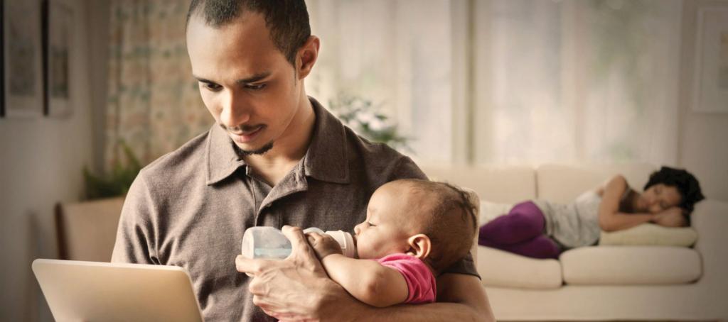 Cada vez más hombres ayudan en el hogar. Foto: Internet