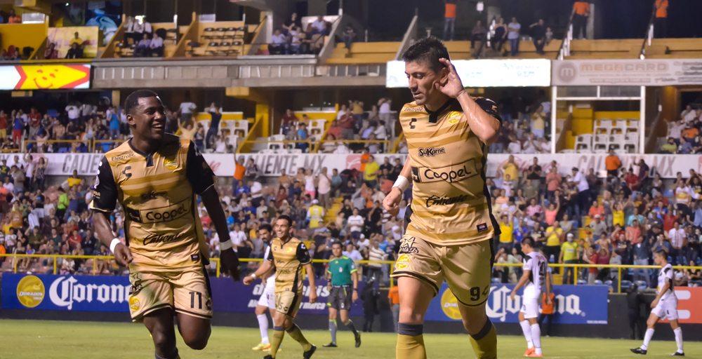 Mancilla se estrenó como goleador en la Copa MX. FOTO: Cortesía Club Dorados.