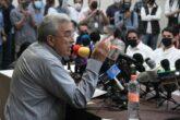 El gobernador electo Ruben Rocha Moya anuncia a su gabinete